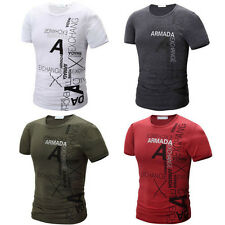 1PCS Short Sleeve Slim Sport Fashion T-Shirt Casual Mens Cotton New 2017 Hot