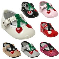 Toddler Baby Girl PU Leather Prewalker Soft Sole Crib Shoes Princess Shoes 0-18M