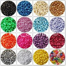 Pearl Pony Beads 50/100/200/300 Packs - Hair Braiding, Dummy Clips - 6x9mm