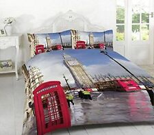 New London,  Duvet Cover Set Double King Supper+PillowCase Bedding