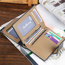 Men Leather credit/ID Card holder Clutch Trifold Wallet Coin Purse Cash Pockets