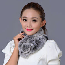Women Scarf Winter Luxury Knitted Female Real Rex Rabbit Fur Scarf Collar Neck