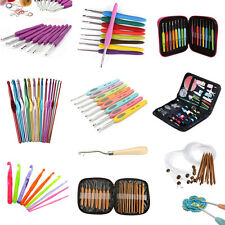 Mixed Soft Handle Bamboo Aluminum Crochet Hooks Knitting Needles Weave Yarn kit