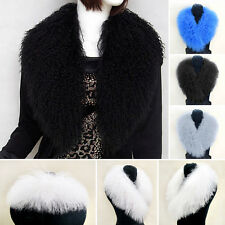 Thick Natural Real Mongolia Lamb Fur Collar Nice Scarves Wraps Shawls Cape Scarf