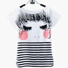 Womens Clothes Casual Printed Cotton Short-sleeve Elastic Women T-shirt Tops