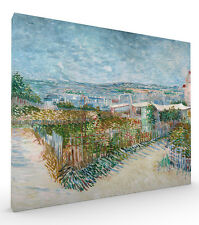 Montmartre behind the Moulin de la Galette by Vincent van Gogh Stretched Canvas