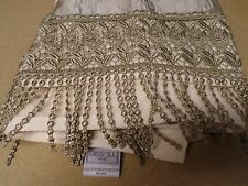 Pre-Owned Displayed Croscill Full Size Sage Green Embroidery Tassle Bath Towel