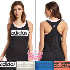 Sporty Women's Adidas Casual Gym Vest Basic Workout Fitness Tank Top 4 Colours