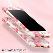 360 Full Body + Glass Film Flower Phone Case Cover For Apple iPhone 6 7 6s Plus