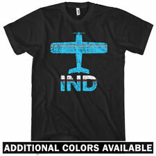 Fly Indianapolis IND Airport T-shirt  Men S-4X - Plane Airplane Indiana Pilot IN