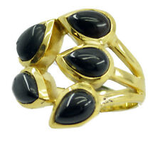 Black Onyx Gold Plated Ring appealing Black wholesales AU K,M,O,Q