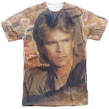 MacGyver TV Show TOOLS OF THE TRADE 1-Sided Sublimated Big Print Poly T-Shirt