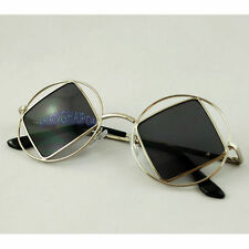 Double Frame Sunglasses Round/Square Sunnies Shades Hippy Retro Vintage 70's