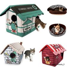 Soft Pet Dog Cat Beds House Puppy Dog Kennel Cave Cozy Cushion Beds Pet Nest New
