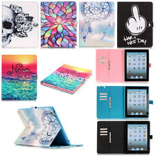 For Apple ipad/Sumsung Series Tablet Leather Flip Wallet Case Cover Card Slot