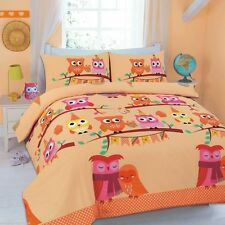 Cute Owl Quilt Covers Animal Print Pillow cases single Double King Super King