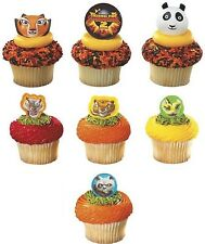 Disney Kung Fu Panda Cupcake Rings Party Favors Cake Toppers Decorations