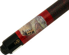 McDermott EL06 Red Cobra Snake Pool/Billiards Cue Stick