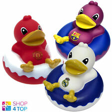 OFFICIAL FOOTBALL CLUB TEAM SOCCER DINGHY RUBBER DUCK BATH TIME MINI TOY KIDS