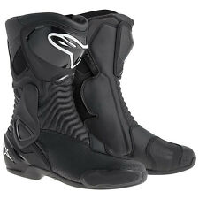 Alpinestars S-MX 6 Vented CE Approved Motorcycle Motorbike Race Boots - Black