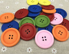Wooden Mixed-color Coat/ bag button 4-holes decoration Sewing Scrapbooking 40mm