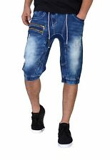 D-coy Mens biker slim fit premium denim Shorts jeans. 4 WASHES (D7562)