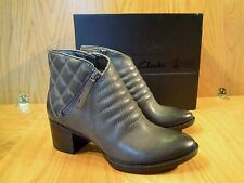 Clarks Ankle Boots Leather Grey Chelsea Boot Ladies Size 4 5 6 7 and 7.5 NEW