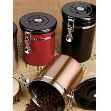 Home Kitchen Coffee Tea Can Container Jar Stainless Steel Seal Canister Storage