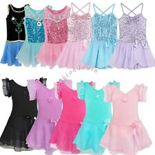 Girls Gymnastic Ballet Dance Dress Leotard Unitard Toddler Tutu Skirt Costumes