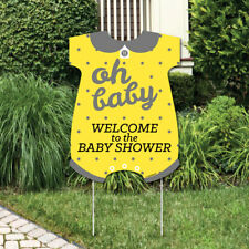 Yellow and Gray - Party Decorations - It's A Boy Baby Shower Welcome Yard Sign