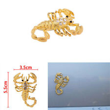 3D Zircon Metal Scorpion Decals Auto Decor Badge Emblem Sticker Car Styling Gift