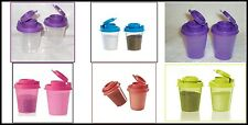 TUPPERWARE MINI MIDGET TRAVEL SALT & PEPPER SHAKERS U PICK COLOR NEW