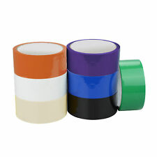 """36 Rolls Clear / Color Packaging Tape 2""""x100 Yards 2 MIL w/ Free Tape Dispenser"""