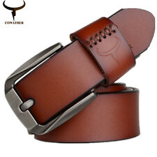 Men Luxury Polite Fashion Belt High Quality Cow Genuine Leather Belts