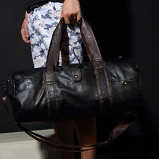 Vintage Men's Faux Leather Sport Travel Carry-On Duffel Overnight Weekend Bag
