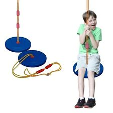Toy Cubby Classic Style Blue Disc Rope Seat Swing. Shipping is Free