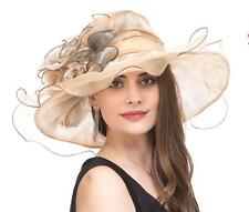 Lady Tea Party Hat Kentucky Derby Church Wedding Dress Church Hat Bridal Shower