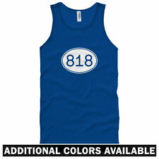Area Code 818 Unisex Tank Top - Men Women XS-2X - Los Angeles Glendale Van Nuys