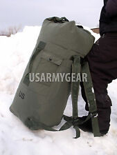 Army Military Duffel Bag Sea Bag OD Green Waterproof Painted Bottom Back Pack
