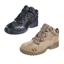 Mens Army Tactical Boots Leather Mid-Calf LaceUp Boots Work Outdoor Desert Shoes