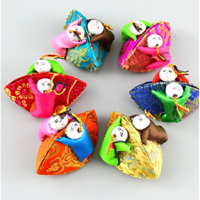 1/10Pcs Chinese Classic Embroidered Dolls Silk Jewelry Boxes Change Gift box toy