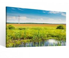 Canvas 1Tlg XXL Grass Landscape Spring Water Canvas picture Pictures 9R1053