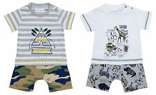 Boys Playsuit Romper Outfit Safari Wild One Teepee Newborn Baby to 12 Months
