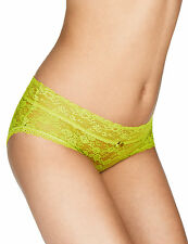 -% MARKS & SPENCER Neon Green Low Rise Lace Shorts MUST HAVE UK 12-18