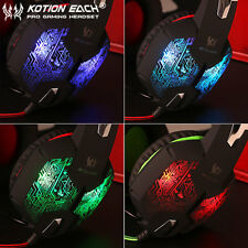 EACH G1000 PC Gaming Bass Stereo Headset Microphone LED Laptop Computer lot I5