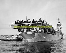 USN Aircraft Carrier USS Valley Forge CV-45 Black n White Photo Military 1950