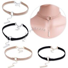 2 Pcs Fashion Simple Style Velvet Choker Necklace Eye Bead Charm Tattoo Choker