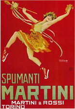 Vintage poster SPUMANTI MARTINIprint on Paper or Canvas Giclee13X18 to 44X60