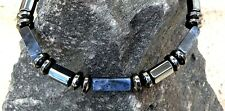 Six sided Magnetic Hematite Necklace Bracelet Anklet Blue Sodalite Therapeutic