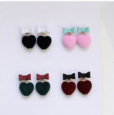 Bow tie Earring` Earrings Love Heart 1Pair Candy Pur Ball Color Stud Earrings